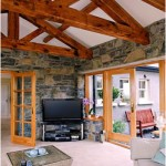 Bespoke wooden trusses from Wilsons Conservation Building Products