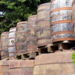 original wooden whiskey barrels