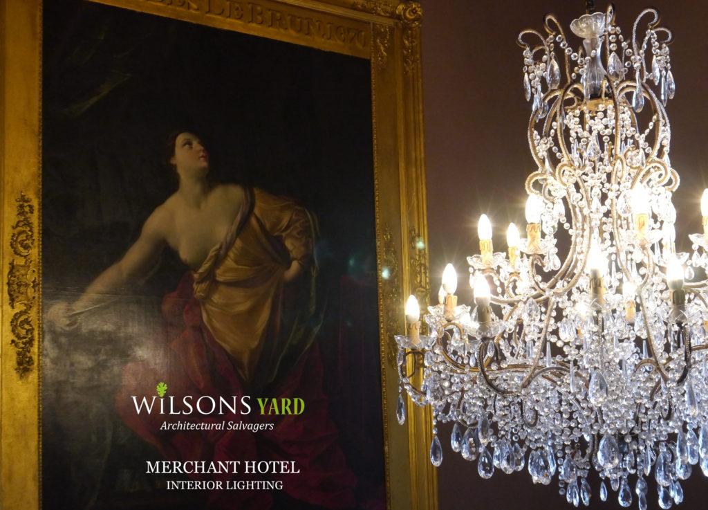 Vast range of Antique Chandeliers from Wilsons Yard Ireland