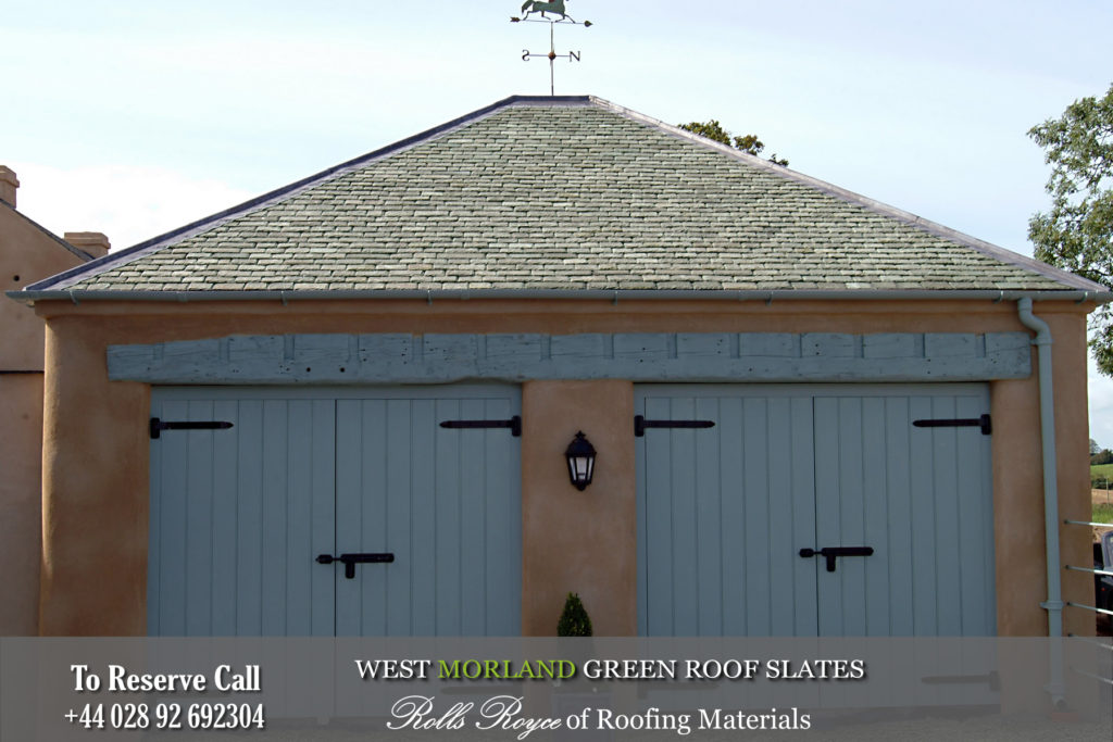 Reclaimed roof slates Ireland West Morland Green Roof Slate
