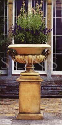 The Triton Collection - Large Chesterblade Urn on Full Height Large Classical Plinth