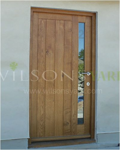 Contemporary Door & frame in solid Oak