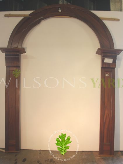 Antique arched door frame in Mahogany