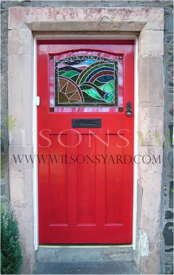 1930s style door in red