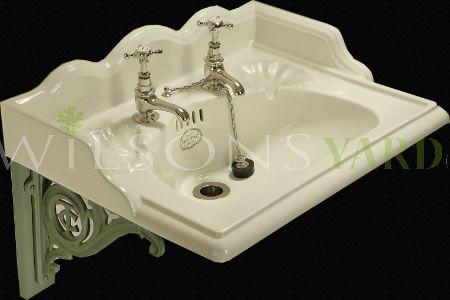 22 Inch  Washbasin Set - Antique White China.