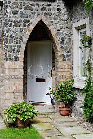 Cottage Style Planked Door & Frame