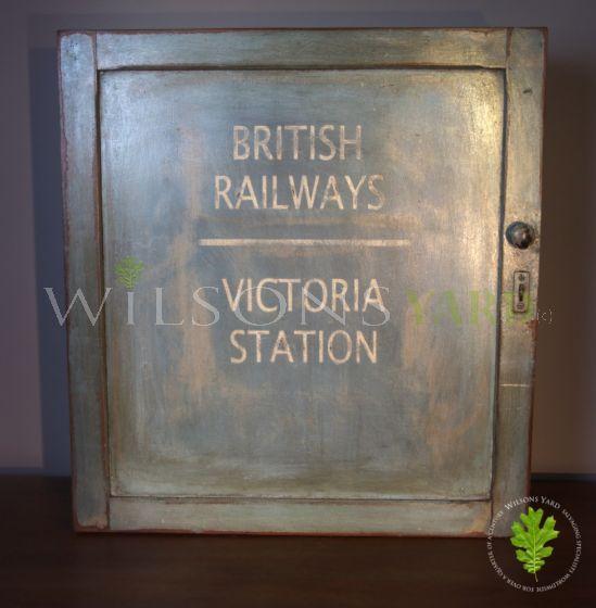 Edwardian Wooden Railway Cupboard Front View