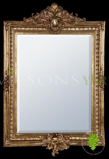 Gold Gilt Leaf Bevelled Mirror