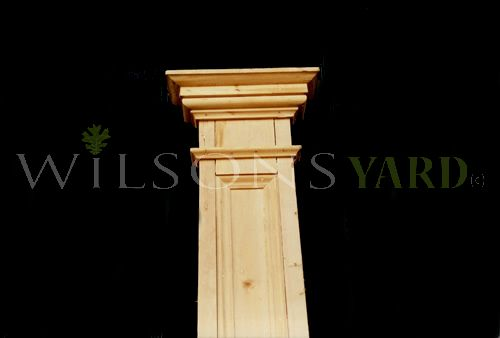 Oregan Pine Half Pillars
