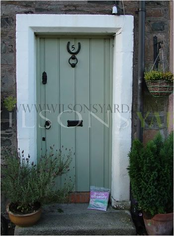 Cottage style planked door