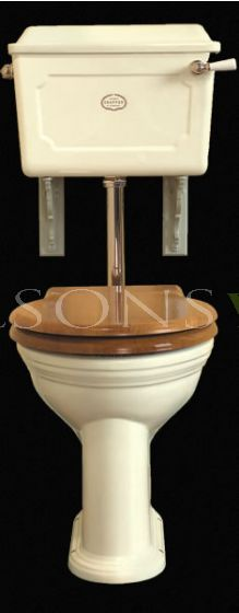 Low Level Set Ceramic Cistern Antique White China