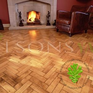 Reclaimed Barrow Oak Parquet / Woodblock Flooring