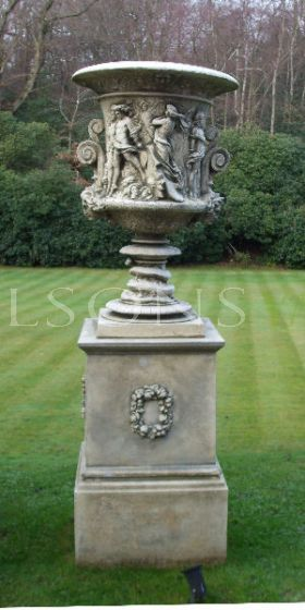The Triton Collection - Milton Vase on Full Milton Plinth