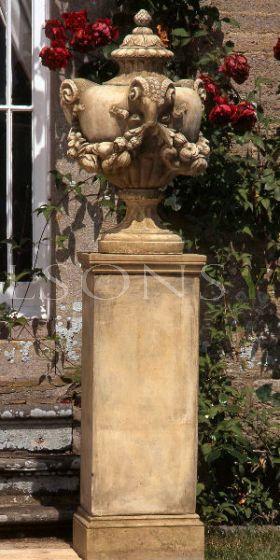 Pentlow Urn on Full height slim classical Plinth