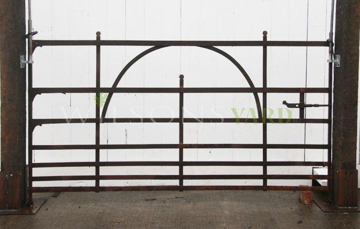 Antique farm blacksmith gate