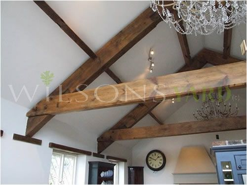 Reclaimed Pine A Frame Truss with a raised Tie Beam