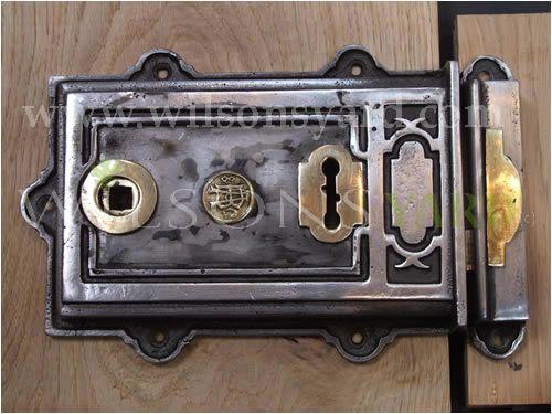Large Cast Iron Rim Lock
