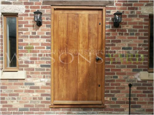 Cottage  Planked Door & frame in solid oak