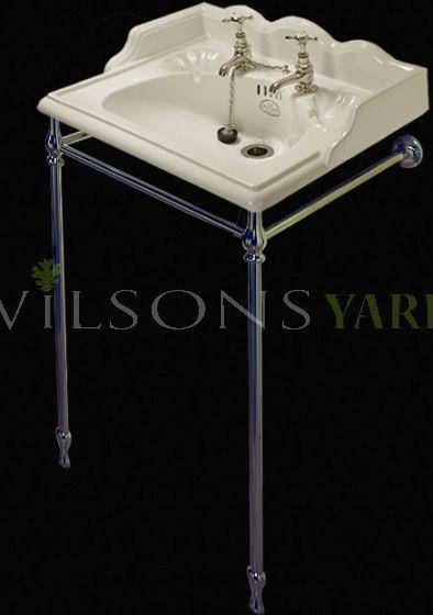22 Inch  Washbasin Stand Set - White China.