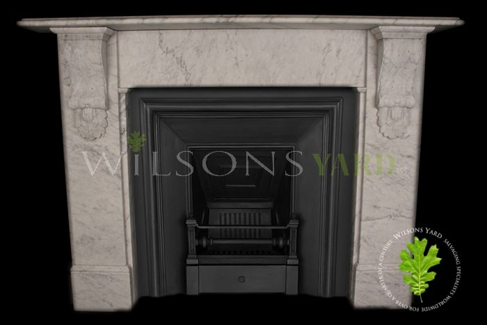 antique white marble fireplace