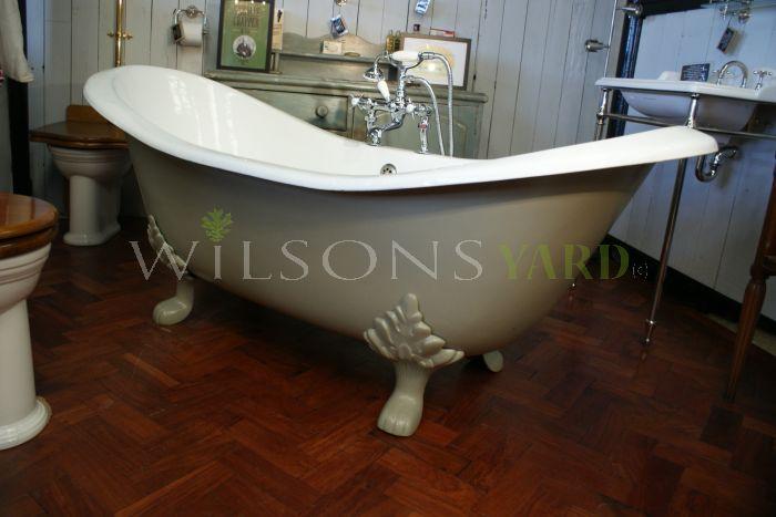 cast iron double slipper bath