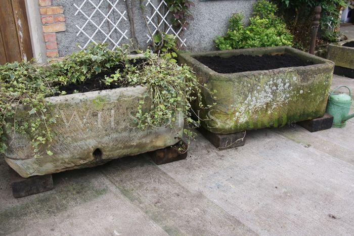 Antique sandstone trough