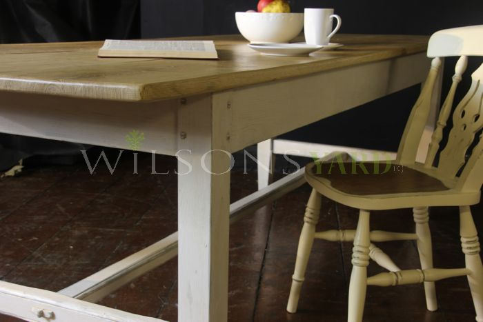 Traditional Country Kitchen Refectory Table - Oak