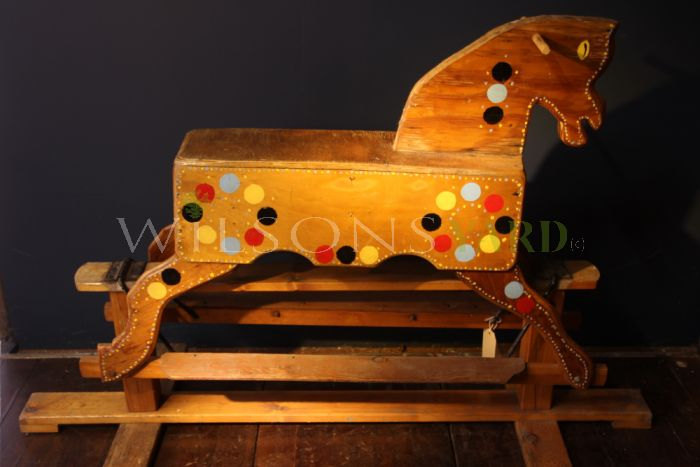 Rustic Decorative Wooden Rocking Horse