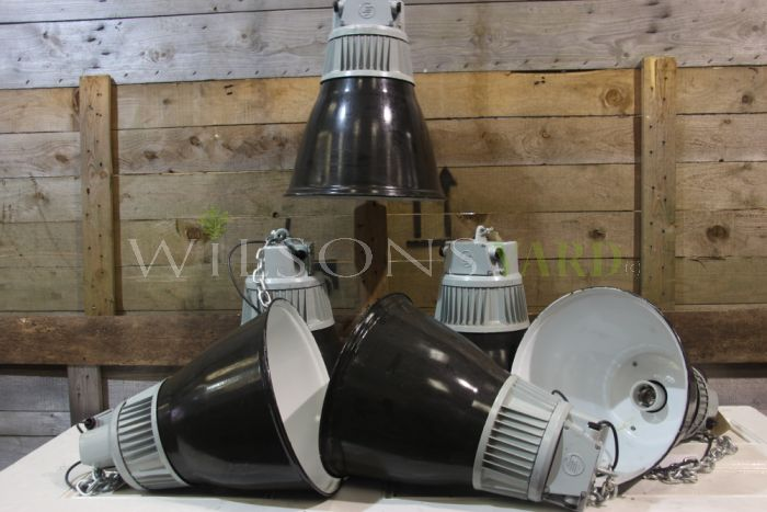 Salvaged Eastern Bloc Industrial Factory Lights