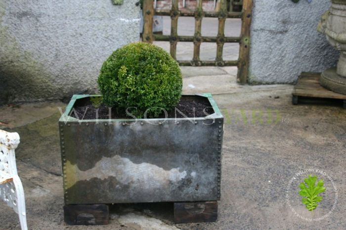 1 of 2 Galvanised Tank Planters (A)