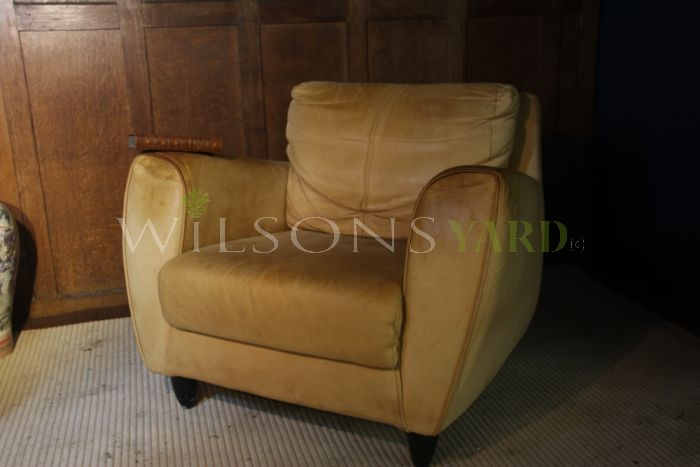 Old Vintage Leather Armchair