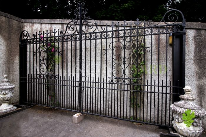 Magnificent Pair of Huge Late 19th Century Blacksmith Forged Belfast Gates (Circa 1900)