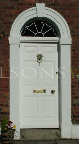 Georgian 6 Panel door, frame & fanlight