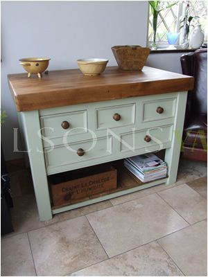 Traditional, Hand Crafted Kitchen Island.