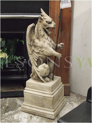 Heraldic Griffin Finial With Spears