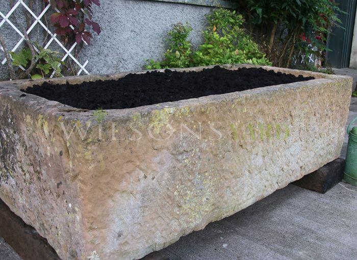 Sandstone garden planter