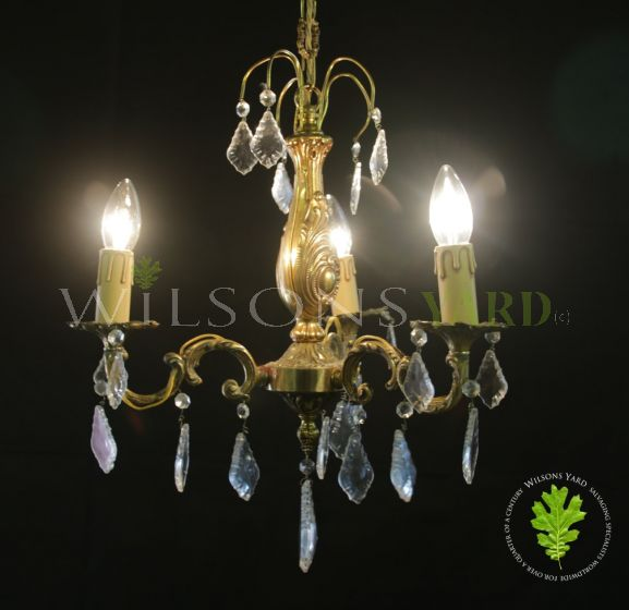 Antique French gilded chandelier