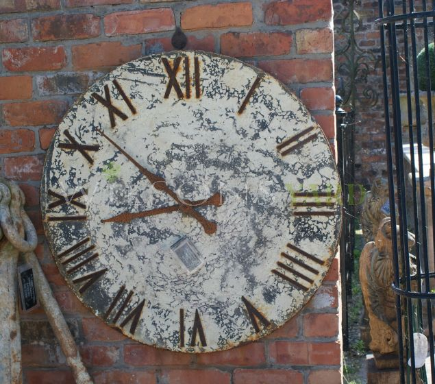 Large Decorative Distressed French Wall Clock Face
