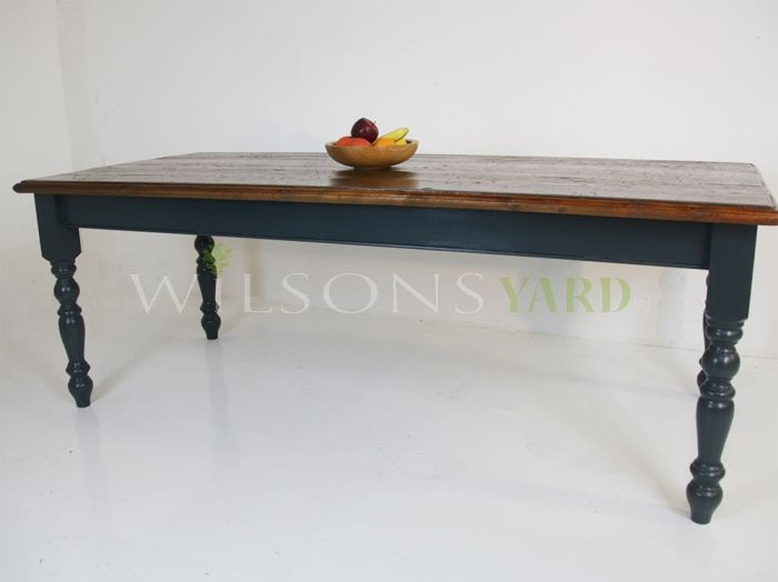 Vintage plank topped table