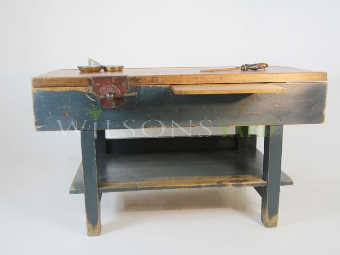 Vintage wood workers bench
