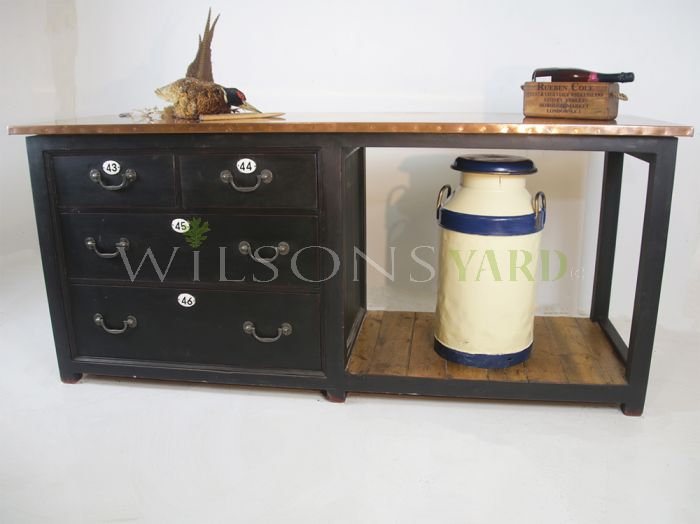 Handemade copper topped kitchen island Ireland