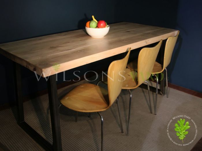 Industrial Style Metal Base Table