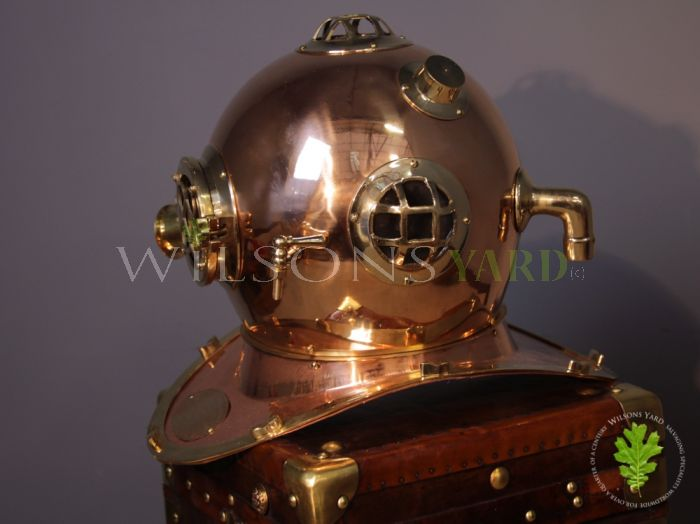 Divers Helmet in Copper and Brass