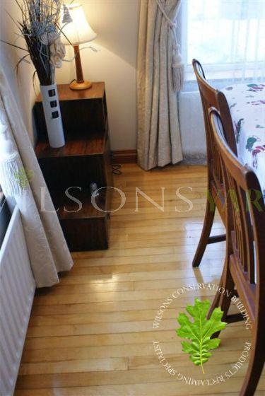 A Beautiful Reclaimed Rich Maple Strip Flooring
