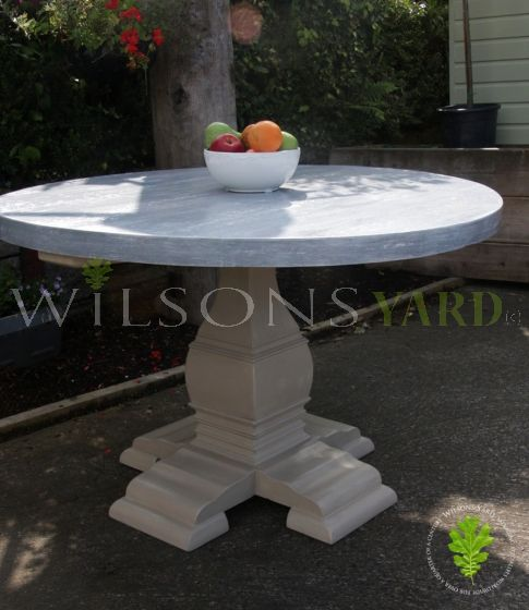 Round Table with Reclaimed Top