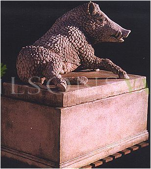 The Young Boar on plinth