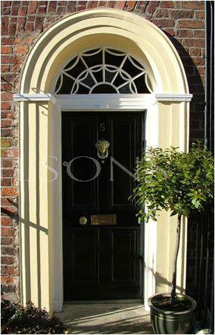 Georgian 4 Panel  Door frame & detailed fanlight
