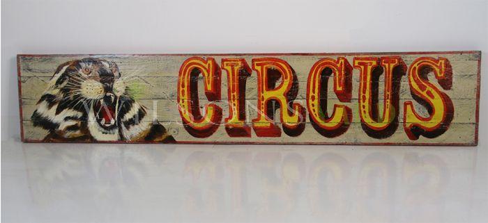 Vintage circus sign