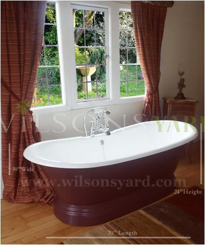 cast iron plinth bath