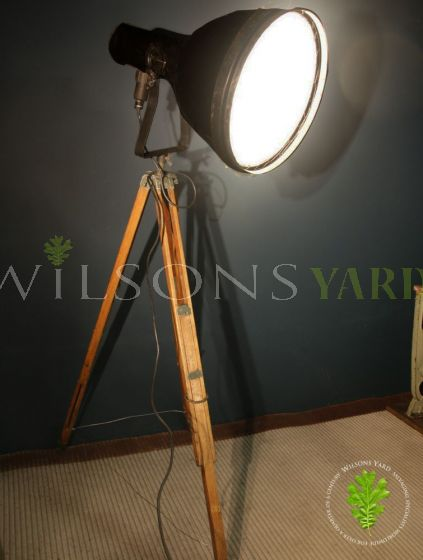 Industrial Light on Wooden Tripod